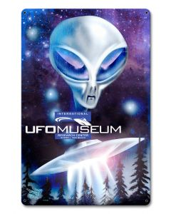 Ufo Museum, Man Cave, Metal Sign, Wall Art, 12 X 18 Inches