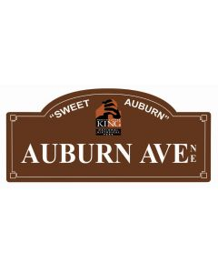 Auburn Ave, Man Cave, Metal Sign, Wall Art, 18 X 7 Inches