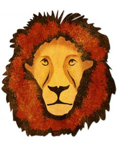 3-D Lion Vintage Sign, 3-D, Metal Sign, Wall Art, 20 X 22 Inches