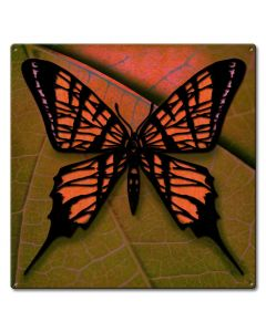 Butterfly 3-D Vintage Sign, 3-D, Metal Sign, Wall Art, 24 X 24 Inches