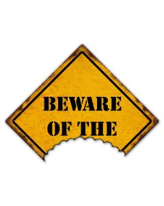 Beware Of The Vintage Sign, Halloween, Metal Sign, Wall Art, 24 X 18 Inches