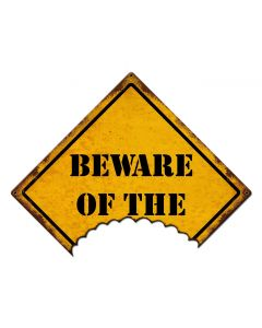Beware Of The Vintage Sign, Halloween, Metal Sign, Wall Art, 16 X 12 Inches