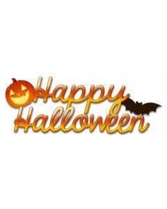 Happy Halloween Vintage Sign, Halloween, Metal Sign, Wall Art, 22 X 8 Inches