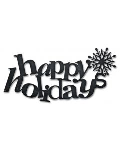 Happy Holidays Vintage Sign, New Products, Metal Sign, Wall Art, 18 X 9 Inches