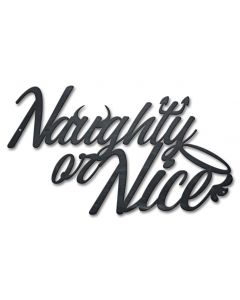 Naughty Or Nice Small Vintage Sign, Seasonal, Metal Sign, Wall Art, 18 X 10 Inches