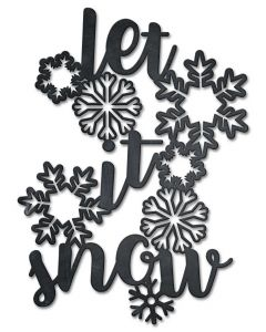 Let It Snow Vintage Sign, Seasonal, Metal Sign, Wall Art, 18 X 25 Inches