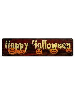Happy Halloween Vintage Sign, Halloween, Metal Sign, Wall Art, 20 X 5 Inches