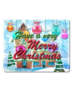 Have A Merry Christmas Vintage Sign, Seasonal, Metal Sign, Wall Art, 15 X 12 Inches