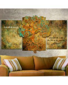 RB253 - 3D TREE OF LIFE ORGANIC, Ralph Burch, Metal Sign, Wall Art, 65 X 32 Inches