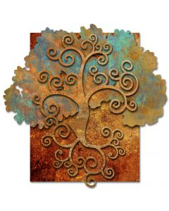 RB254 - 3-D TREE OF LIFE ORGANIC, Ralph Burch, Metal Sign, Wall Art, 23 X 23 Inches
