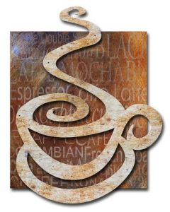 Coffee Cup 3D 40x27 Vintage Sign, Oil & Petro, Metal Sign, Wall Art, 31 X 40 Inches