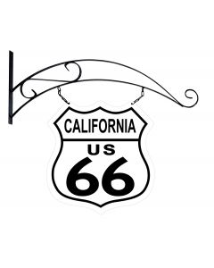 Route 66 California Road Sign Double Sided Vintage Sign, Street Signs, Metal Sign, Wall Art, 15 X 15 Inches