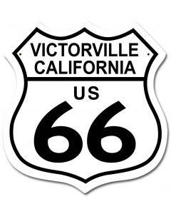 US RT 66 Victorville CA Vintage Sign, Street Signs, Metal Sign, Wall Art, 15 X 15 Inches