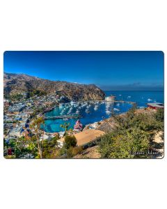 Island View Catalina Island Vintage Sign, Other, Metal Sign, Wall Art, 36 X 24 Inches