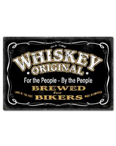 Whiskey Original Vintage Sign, Bar and Alcohol , Metal Sign, Wall Art, 24 X 16 Inches
