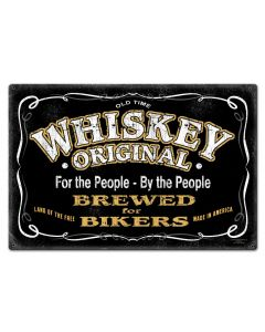Whiskey Original Vintage Sign, Bar and Alcohol , Metal Sign, Wall Art, 30 X 20 Inches