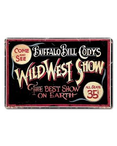 Wild BIll Vintage Sign, Other, Metal Sign, Wall Art, 18 X 12 Inches
