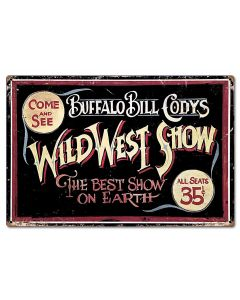 Wild Bill Vintage Sign, Other, Metal Sign, Wall Art, 24 X 16 Inches