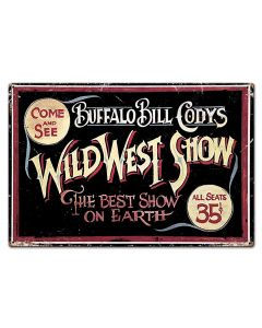 Wild Bill Vintage Sign, Other, Metal Sign, Wall Art, 30 X 20 Inches
