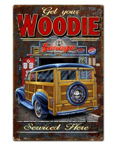 Woodie Vintage Sign, Other, Metal Sign, Wall Art, 20 X 30 Inches
