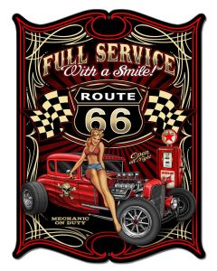 Full Service Vintage Sign, Other, Metal Sign, Wall Art, 16 X 21 Inches
