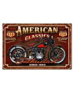 American Classic Vintage Sign, Other, Metal Sign, Wall Art, 30 X 20 Inches