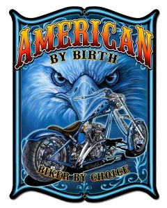 American By Birth Vintage Sign, Other, Metal Sign, Wall Art, 14 X 18 Inches