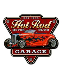 Hot Rod Garage Vintage Sign, Other, Metal Sign, Wall Art, 12 X 10 Inches
