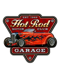 Hot Rod Garage Vintage Sign, Other, Metal Sign, Wall Art, 14 X 12 Inches