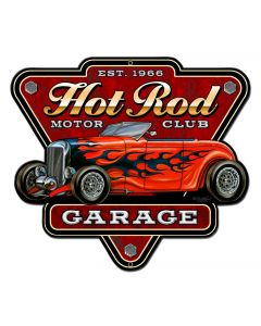 Hot Rod Garage Vintage Sign, Other, Metal Sign, Wall Art, 18 X 16 Inches