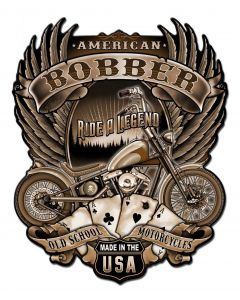 American Bobber Vintage Sign, Other, Metal Sign, Wall Art, 14 X 18 Inches