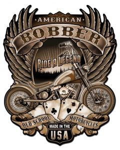 American Bobber Vintage Sign, Other, Metal Sign, Wall Art, 18 X 22 Inches