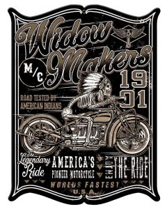 Widow Maker Vintage Sign, Other, Metal Sign, Wall Art, 15 X 19 Inches