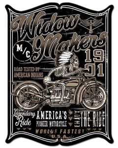 Widow Maker Vintage Sign, Other, Metal Sign, Wall Art, 18 X 23 Inches