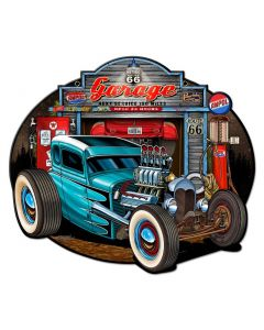 Garage Rod Vintage Sign, Other, Metal Sign, Wall Art, 16 X 14 Inches