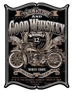 Old Bikes Vintage Sign, Other, Metal Sign, Wall Art, 15 X 19 Inches