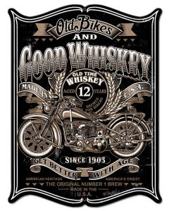Old Bikes Vintage Sign, Other, Metal Sign, Wall Art, 18 X 23 Inches