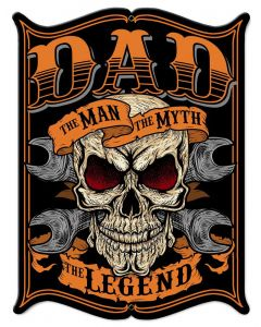 Dad The Man Vintage Sign, Other, Metal Sign, Wall Art, 15 X 19 Inches
