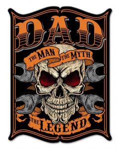 Dad The Man Vintage Sign, Other, Metal Sign, Wall Art, 12 X 16 Inches