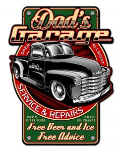 Dads Garage Vintage Sign, Other, Metal Sign, Wall Art, 12 X 16 Inches