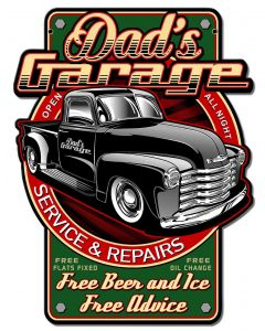 Dads Garage Vintage Sign, Other, Metal Sign, Wall Art, 14 X 18 Inches