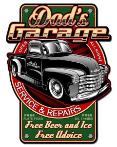 Dads Garage Vintage Sign, Other, Metal Sign, Wall Art, 18 X 23 Inches