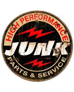 Junk Parts Service Vintage Sign, Other, Metal Sign, Wall Art, 14 X 14 Inches