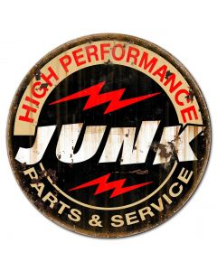 Junk Parts Service Vintage Sign, Other, Metal Sign, Wall Art, 18 X 18 Inches