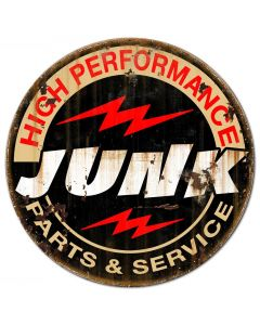 Junk Parts Service Vintage Sign, Other, Metal Sign, Wall Art, 24 X 24 Inches