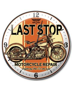Last Stop, Other, Metal Sign, Wall Art, 14 X 14 Inches