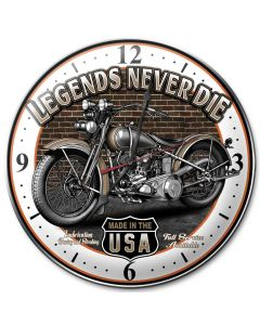 Legends Never Die, Other, Metal Sign, Wall Art, 14 X 14 Inches