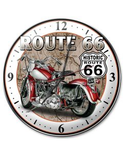 Route 66, Street Signs, Metal Sign, Wall Art, 14 X 14 Inches
