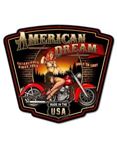 American Dream Vintage Sign, Other, Metal Sign, Wall Art, 24 X 21 Inches
