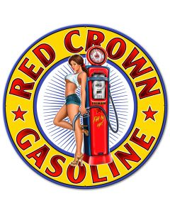 Red Crown New Vintage Sign, Other, Metal Sign, Wall Art, 30 X 30 Inches
